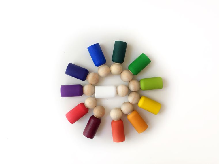 Rainbow Peg Dolls