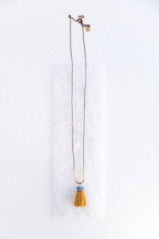 Golden Circ Necklace