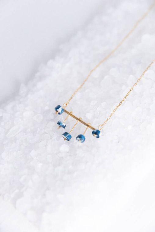 Shibori Chandelier Necklace