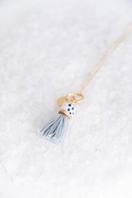 Dove Mini Topped Tassel Necklace
