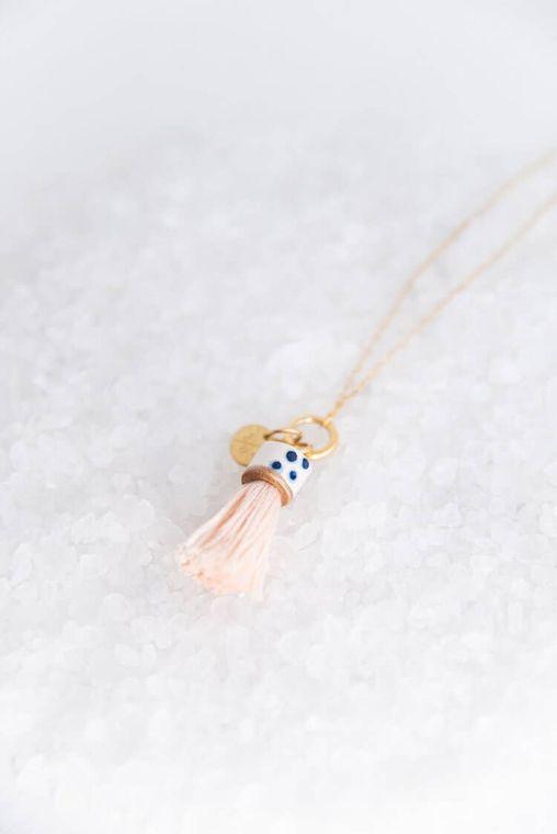 Bashful Mini Topped Tassel Necklace