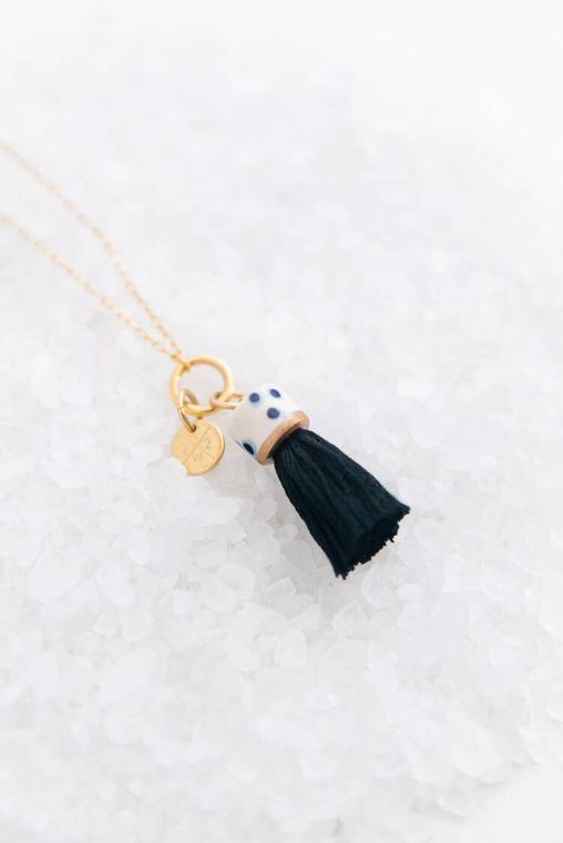 Ink Mini Topped Tassel Necklace