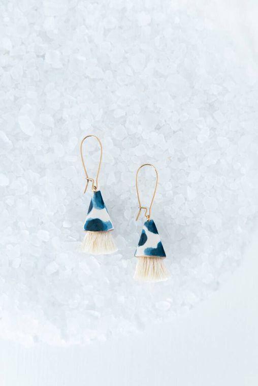 Watercolor Cone Earrings