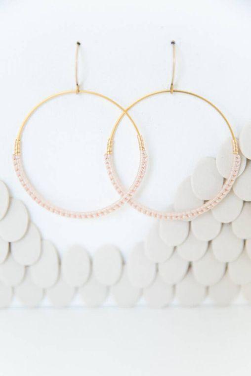 Bashful Macramé Hoop Earrings