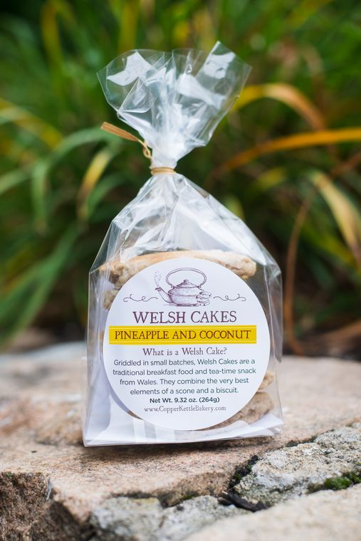 Pineapple and Coconut Welsh Cakes