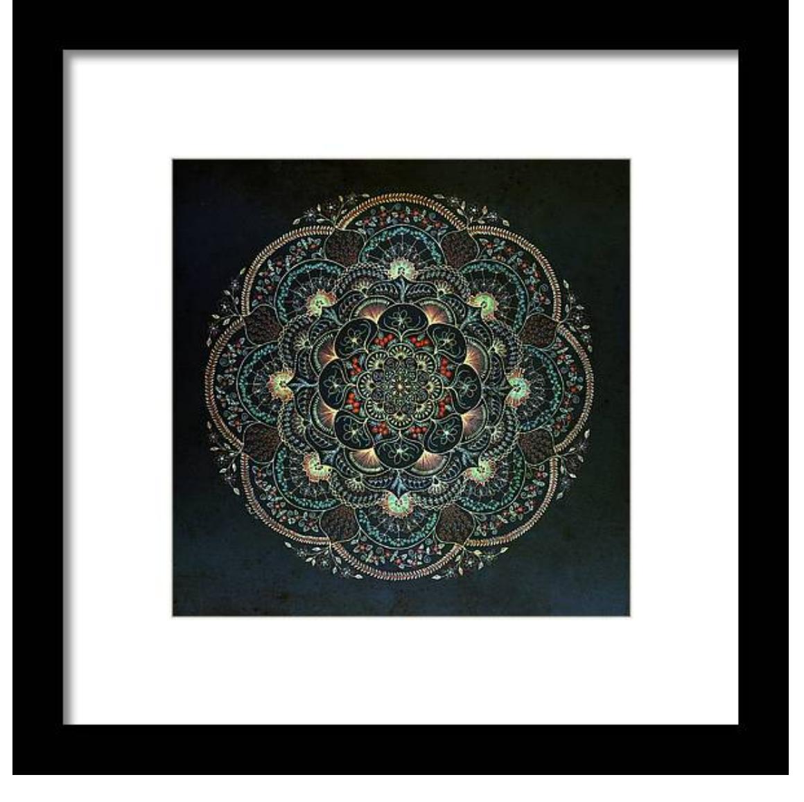 Love Mandala (Ancient Blue) Giclée Print