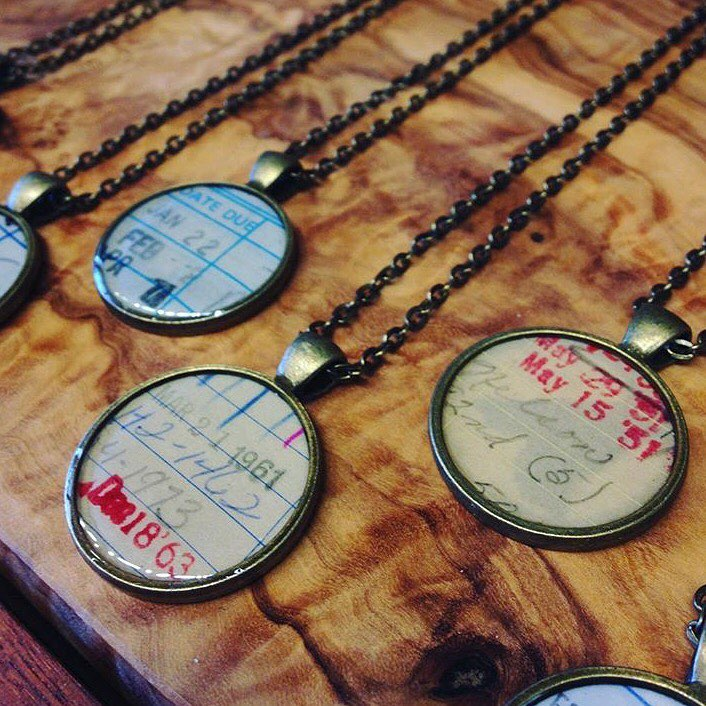 Book Lover Necklaces -- Assorted Dates