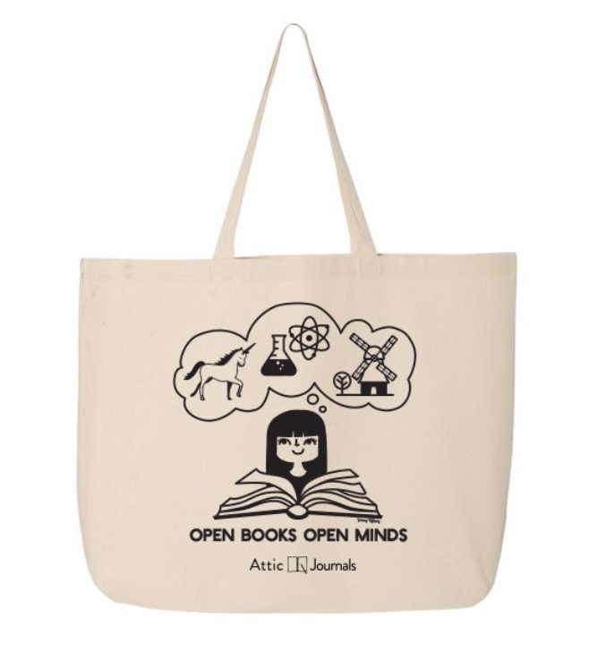 Tote- Open Books Open Minds Canvas Tote 2018 Edition