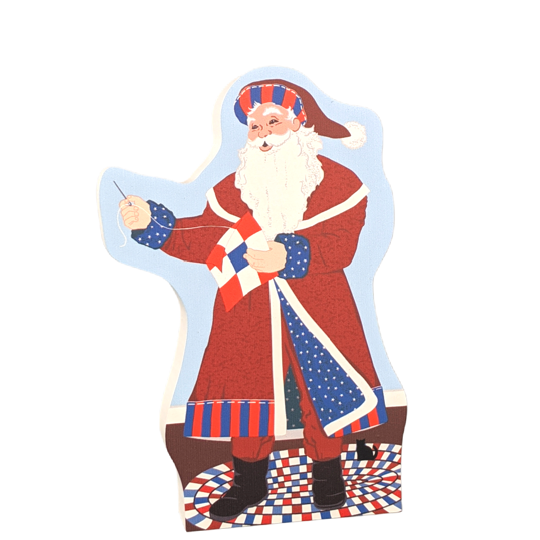 Red, White & Blue Santa 2020