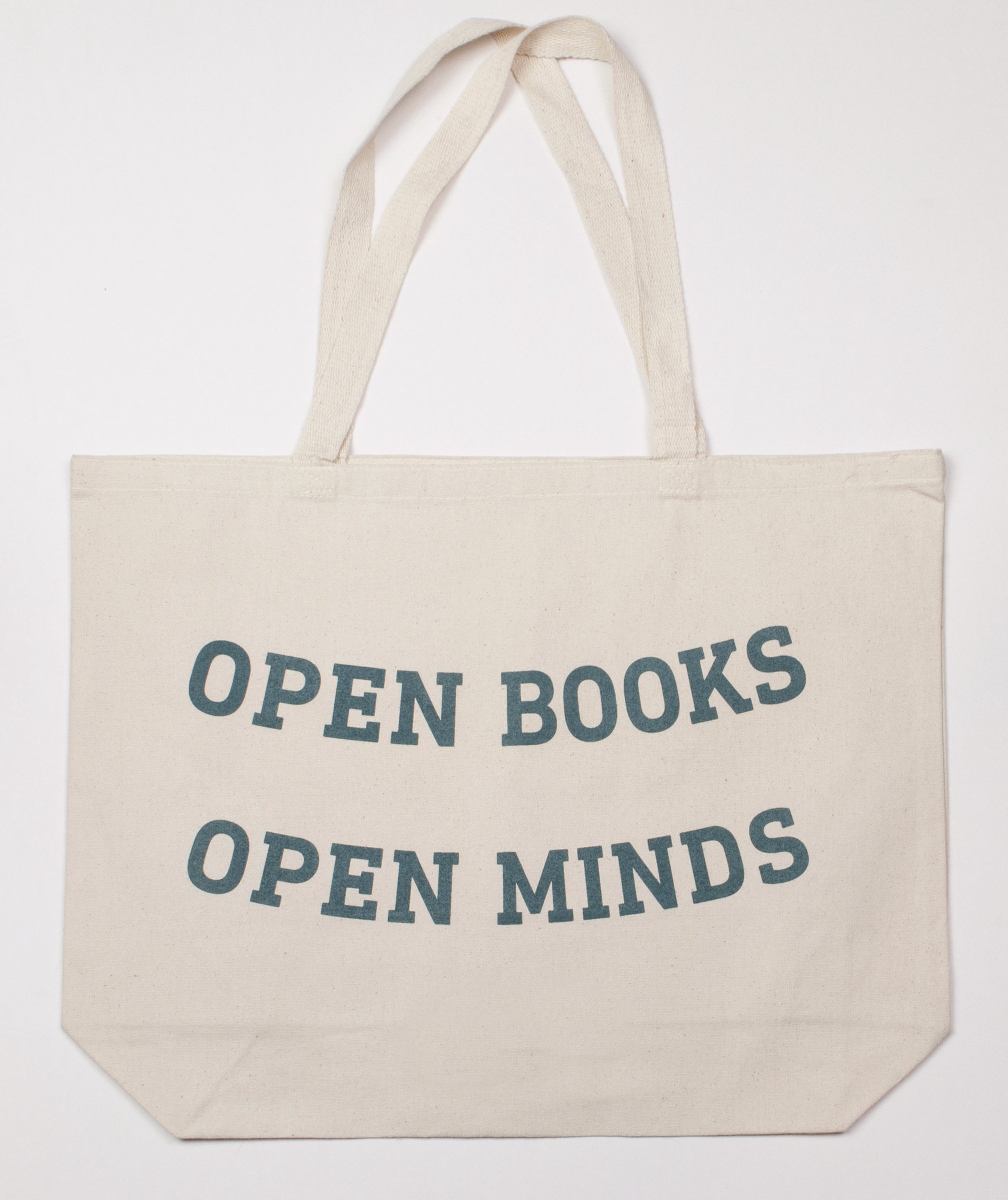 Tote- Open Books Open Minds Canvas Tote Text Edition