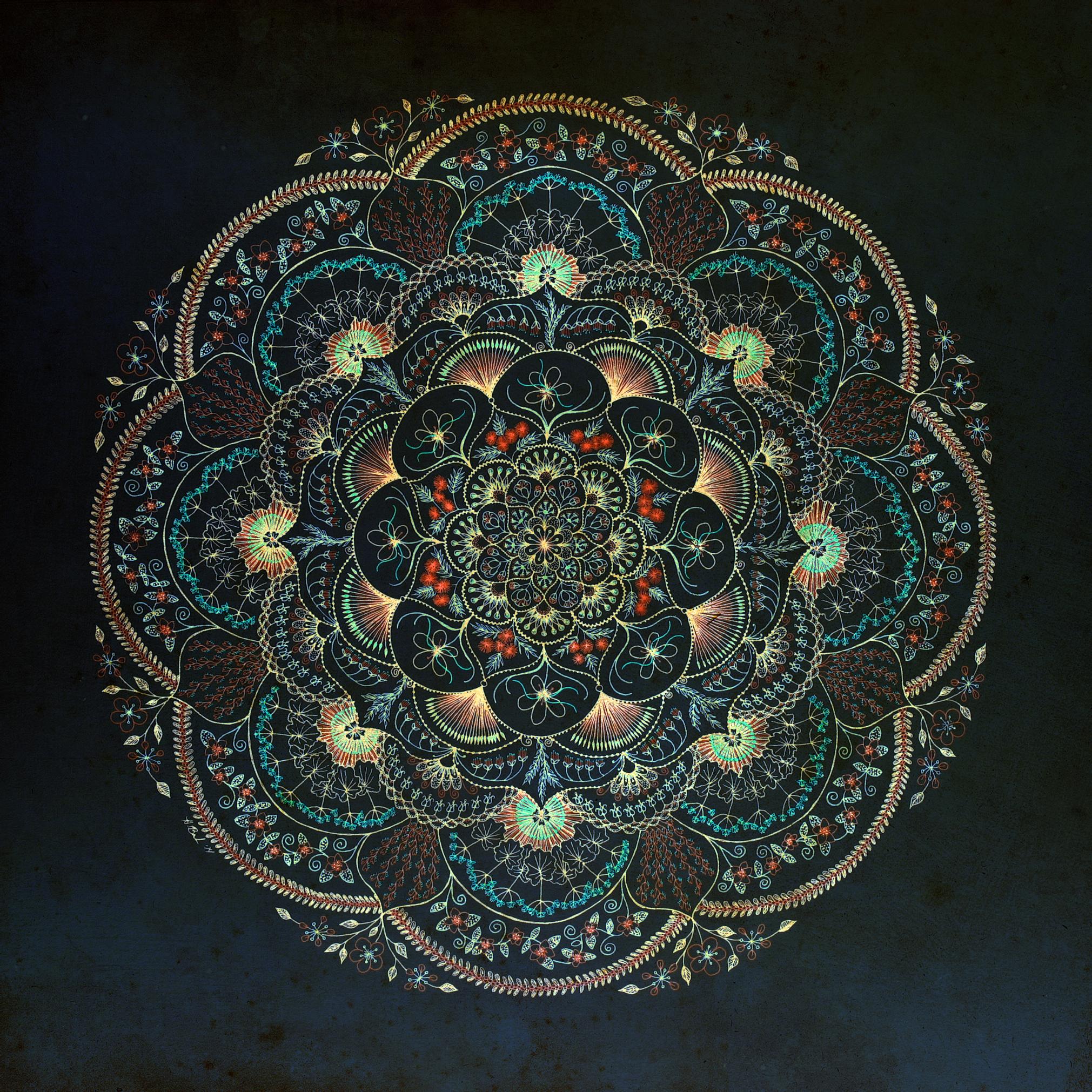 Harvest Moon Mandala (Dawn) Giclée Print