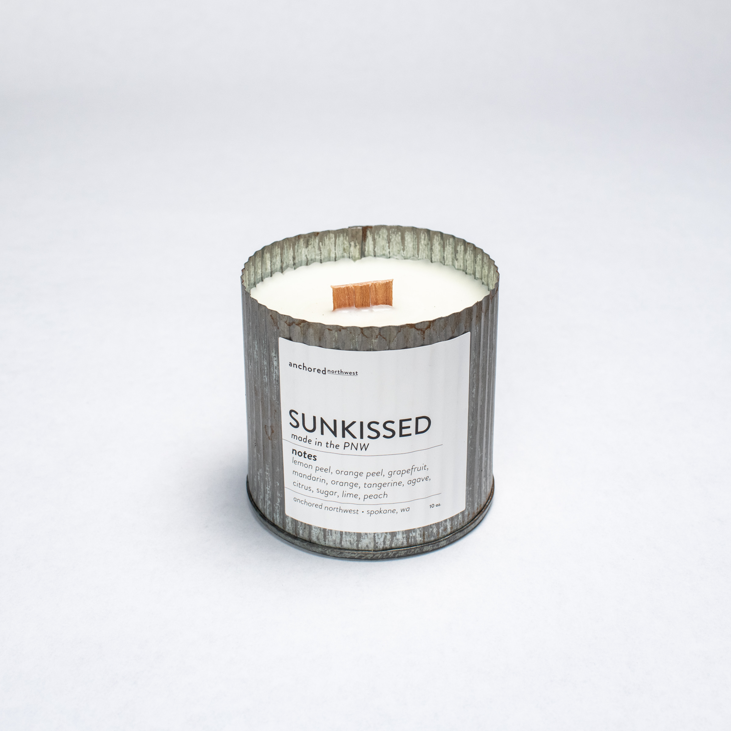 Sunkissed - Rustic Vintage Wood Wick Candle