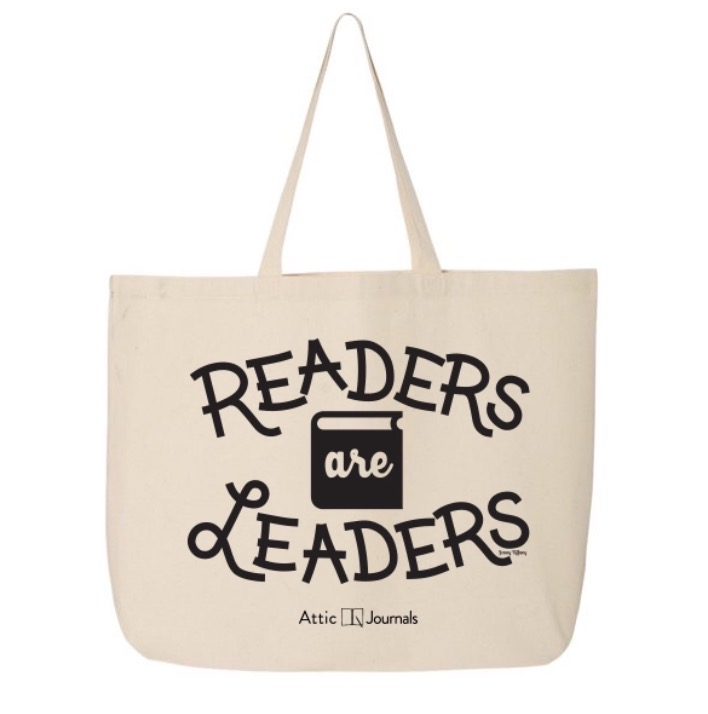 Tote- Readers Are Leaders Canvas Tote 2018 Edition